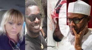 Tell your soldiers to stop beating Nigerians, we are watching you – American woman tells Buhari (Video)